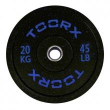 Ολυμπιακός Δίσκος Bumper Crumb 20kg 45cm Toorx