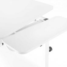 SIDE TABLE (06716-4275) LOGO DUO II, MAX II λευκό/ασημί