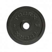 Μαύρος Μαντεμένιος Δίσκος 2 kg Ø25mm Toorx