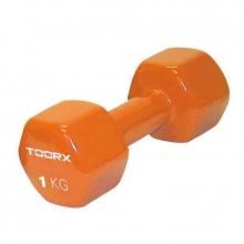 Βαράκι Χεριού Βινυλίου 1kg Πορτοκαλί Toorx