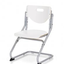 Παιδική Καρέκλα Γραφείου CHAIR PLUS ασημί/λευκό