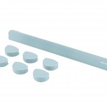 Γωνίες Προστασίας με χάρακα - Μπλε Γκρι - για γραφεία KIDS SERIES (0W41002-5030) - KETTLER