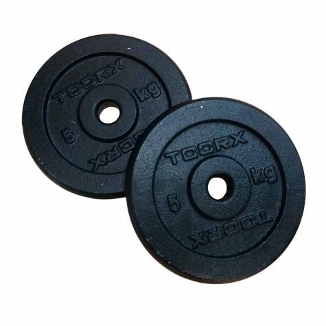 μεταλλικός μαύρος δίσκος 5 kg για μπάρες Ø25mm